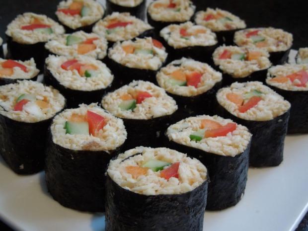 sushi maki crudiveganos