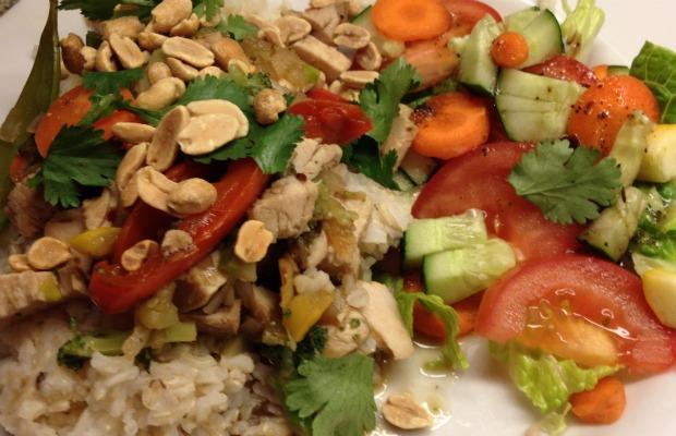 arroz con pollo y verduras 620+400