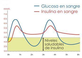 glucosa-insulina en sangre 350+250