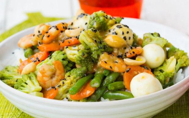 langostinos con verduras 640+400