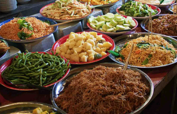 Traditional street food in Luang Prabang 620+400